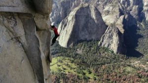 Follow Alex Honnold as he becomes the first person to ever free solo climb Yosemite's 3,000ft high El Capitan Wall. With no ropes or safety gear, he completed arguably the greatest feat in rock climbing history.